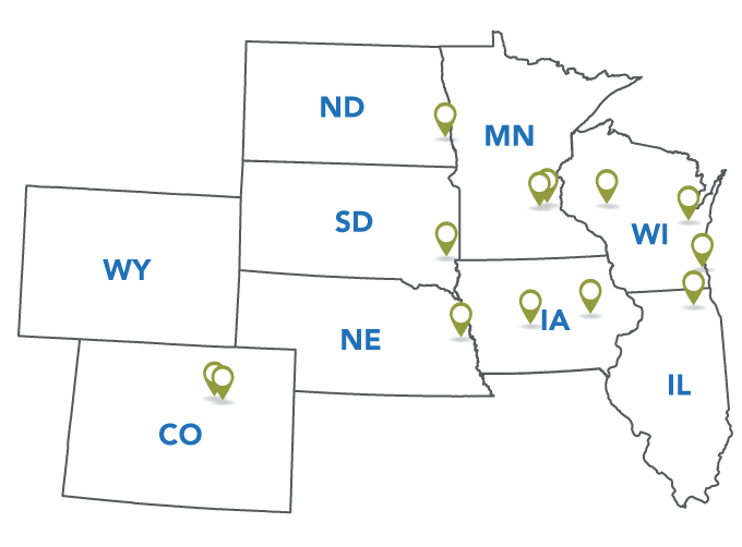 Map of Alignex Office Locations