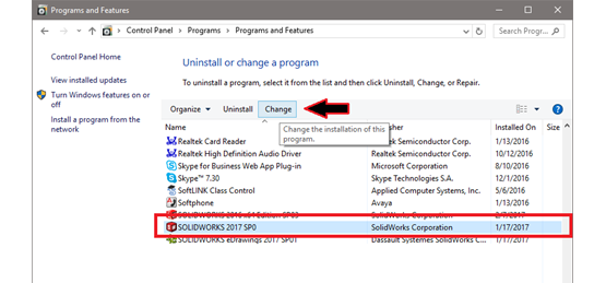 select-solidworks-in-the-programs-list.png